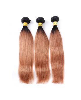 "Color hair 1B30 Straight Brazilian human hair bundles 12""-26"" available"