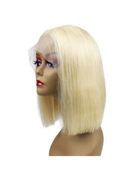 Women's Wig Front Lace Wig Bob Wig Human Hair Lace Wig Color 613