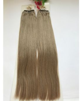"customized order for 20"" straight best quality micro-ring human hair extensions color 18"