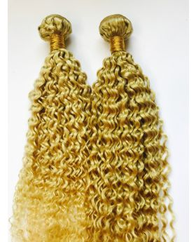 Customized order for top quality #613 color  Brazilian deep curly hair weaves