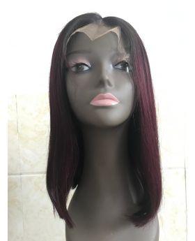 100% Human Hair Front Lace Wig Bob Wig Color Wig 1B99J 1B27 1B30   and natural black