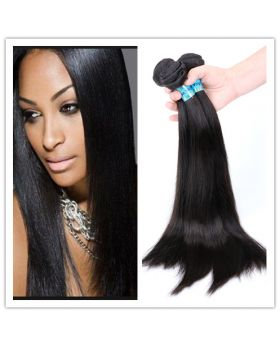 "Free shipping! Natural black top quality unprocessed Malaysian human hair weaves silky straight 18""x3+16"" closure"