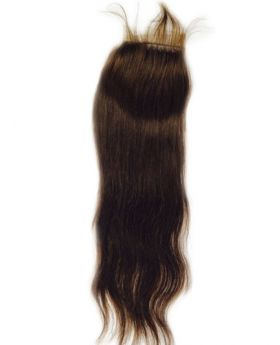 4x4 Color 4 human hair lace closure straight