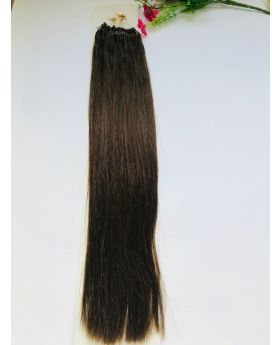"customized order for 20"" straight best quality micro-ring human hair extensions color 4"