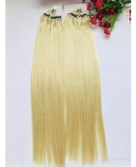 "customized order for 20"" straight best quality micro-ring human hair extensions color 60"