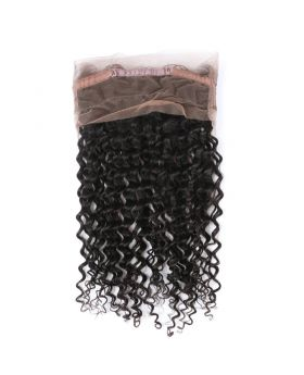 "Deep wave virgin human hair 360 lace frontal 8""-20"" available"