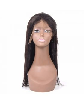 Straight Virgin human hair full lace wig