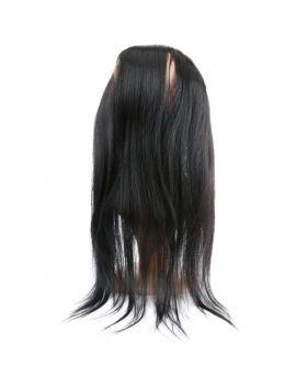 Straight virgin human hair 360 lace frontal