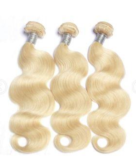 "Color 613 Blonde Hair Body Wave Hair Brazilian human hair bundles 10""-30"" available"