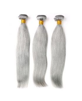 "Complete Grey Hair Gray Hair Silver Hair Straight Peruvian human hair bundles 12""-26"" available"