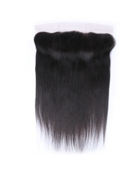 13x4  ear to ear frontal Natural black unprocessed human hair lace frontal straight