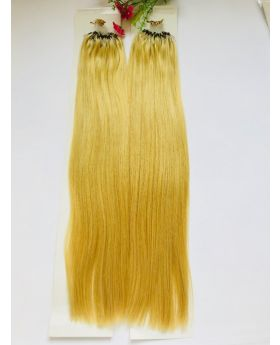 """customized order for 20"""" straight best quality micro-ring human hair extensions color 22"""