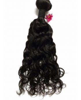 Natural black unprocessed Indian virgin human hair weaves natural wave