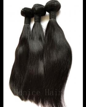 Natural black unprocessed Indian virgin human hair weaves straight