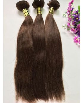 Color #4 straight Brazilian human hair weaves hair bundles hair wefts
