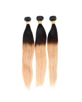 "1B27 Straight Brazilian human hair bundles 12""-26"" available"